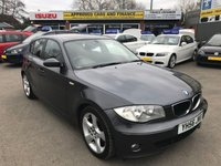 USED 2006 56 BMW 1 SERIES 2.0 118D SE 5d 121 BHP IN GREY IN GOOD CONDITION(TRADE CLEARANCE)GEARBOX MAKES A NOISE. APPROVED CARS AND FINANCE ARE PLEASED TO OFFER OUR BMW 1 SERIES 2.0 118D SE 5 DOORS 121 BHP IN GREY.(PLEASE READ THE ADVERT ABOUT THE GEARBOX ON THE CAR) HUGE SPEC INCLUDING ABS,POWER STEERING,ALLOY WHEELS,BLUETOOTH,6 SPEED,AIR CONDITIONING,CD PLAYER AND MUCH MORE WITH SOME SERVICE HISTORY BUT DUE TO ITS AGE AND MILEAGE AND THE FACT THAT (THE GEARBOX IS NOISY PLEASE NOT THE GEARBOX IS VERY NOISY IT WORKS BUT IS FAULTY) IS BEING OFFERED AS A TRADE CLEARANCE CAR.. PLEASE CALL 01622-871-555.