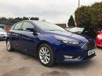 2015 FORD FOCUS 1.5 TDCI TITANIUM 5d NAVIGATOR ONE PRIVATE OWNER, LOW MILEAGE  £9500.00