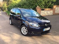 2013 VOLKSWAGEN TOURAN 1.6 SE TDI BLUEMOTION TECHNOLOGY 5d 103 BHP PLEASE CALL TO VIEW £SOLD
