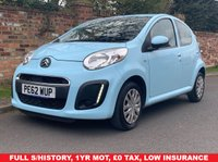USED 2012 62 CITROEN C1 1.0 VTR 5d 67 BHP FULL SERVICE HISTORY, 1YR MOT, £0 ROAD TAX, IDEAL 1ST CAR, EXCELLENT CONDITION, AIR CON, RADIO CD, E/WINDOWS, R/LOCKING, FREE WARRANTY, FINANCE AVAILABLE, HPI CLEAR, PART EXCHANGE WELCOME,