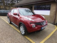 USED 2013 13 NISSAN JUKE 1.6 ACENTA PREMIUM 5d 117 BHP * SATELLITE NAVIGATION * REVERSING CAMERA * BLUETOOTH * PRIVACY GLASS * USB AND AUX *