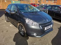 USED 2015 15 PEUGEOT 208 1.2 ALLURE 5d 82 BHP ONLY 7852 MILES FROM NEW! CHEAP TO RUN, LOW CO2 EMISSIONS, £20 ROAD TAX AND EXCELLENT FUEL ECONOMY. EXCELLENT SPECIFICATION WITH CLIMATE CONTROL, ALLOY WHEELS,TOUCHSCREEN MEDIA,REMOTE CENTRAL LOCKING, ELECTRIC FRONT WINDOWS ALL OF OUR VEHICLES MEET LARGE CITY EMISSION STANDARDS!