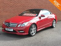 2012 MERCEDES-BENZ E-CLASS 2.1 E250 CDI BLUEEFFICIENCY SPORT 2d AUTO 204 BHP £SOLD