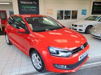 USED 2013 63 VOLKSWAGEN POLO 1.2 MATCH EDITION 3d 59 BHP FULL MAIN DEALER SERVICE HISTORY + LONG MOT + BLUETOOTH + CRUISE CONTROL + AIR CONDITIONING + ALLOYS + DAB RADIO + PRIVACY GLASS + SPARE WHEEL + REAR PARK SENSORS + ELECTRIC WINDOWS