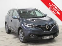 USED 2017 66 RENAULT KADJAR 1.5 DYNAMIQUE S NAV DCI 5d 110 BHP Stunning Renault Kadjar in stunning Metallic Titanium Silver comes with Full Service History, SAT NAV, Half Leather, Parking Sensors, Privacy Glass, Keyless Entry, Electrically Operated Folding Wing Mirrors, Cruise Control, Renault R Link 7 inch touchscreen, DAB Radio, Leather Multi Functional Steering Wheel, Air Con, Bluetooth, Alloys, MOT February 2020 and the balance of Renault Warranty & Roadside Assist until February 2020. Euro 6 LEV exempt. Finance available at 9.9% APR Representative