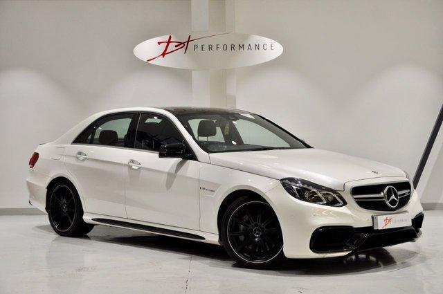 2014 64 MERCEDES-BENZ E CLASS 5.5 E63 AMG 4d AUTO 550 BHP SALOON DESIGNO WHITE