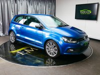USED 2016 65 VOLKSWAGEN POLO 1.4 BLUEGT 3d 148 BHP £0 DEPOSIT FINANCE AVAILABLE, AIR CONDITIONING, AUTOMATIC HEADLIGHTS, AUX INPUT, BLUETOOTH CONNECTIVITY, CLIMATE CONTROL, CRUISE CONTROL, DAB RADIO, ELECTRIC FOLDING DOOR MIRRORS, SATELLITE NAVIGATION, START/STOP SYSTEM, STEERING WHEEL CONTROLS, TRIP COMPUTER, TYRE PRESSURE MONITOR, USB INPUT, VOICE ACTIVATED CONTROLS