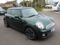 "USED 2012 12 MINI HATCH COOPER 1.6 COOPER D 3d 112 BHP BRITISH RACING GREEN, BLUETOOTH, HEATED SEATS, FSH, 17"" ALLOYS, ZERO TAX!"