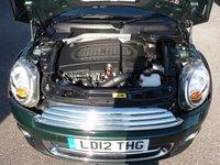 "USED 2012 12 MINI HATCH COOPER 1.6 COOPER D 3d 112 BHP BRITISH RACING GREEN, BLUETOOTH, HEATED SEATS, FSH, 17"" ALLOYS, ZERO TAX!"