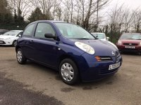 USED 2005 05 NISSAN MICRA 1.2 S 3d  PART EXCHANGE TO CLEAR  MOT TILL MARCH 2020!!! PART EXCHANGE TO CLEAR WITH NEW MOT