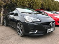 2016 VAUXHALL CORSA 1.4 BLACK EDITION S/S 3d  WITH  VENTED BONNET AND LOWERED  £7500.00