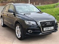 USED 2009 09 AUDI Q5 3.0 TDI QUATTRO S LINE 5d AUTO 240 BHP NAVIGATION SYSTEM *  LEATHER TRIM *  PRIVACY GLASS *  20 INCH ALLOYS *  PARKING AID *  HEATED SEATS
