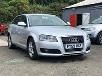 USED 2009 59 AUDI A3 2.0 TDI SE 5d AUTO 138 BHP FULL SERVICE RECORD *  PARKING AID *  FULL YEAR MOT *  ALLOY WHEELS *