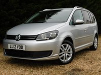 USED 2012 VOLKSWAGEN TOURAN 1.6 TDI SE 5dr LOW MILES FULL VW S/HISTORY !!