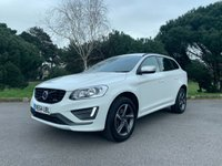 USED 2015 64 VOLVO XC60 2.0 D4 R-DESIGN NAV 5d AUTO 178 BHP 1 OWNER IN WHITE WITH BLK LEATHER AUTOMATIC R DESIGN FSH