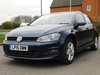 USED 2015 15 VOLKSWAGEN GOLF 1.6 TDI BlueMotion Tech Match DSG (s/s) 5dr £20 ROAD TAX, 60+ MPG & S/H