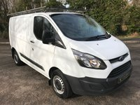 USED 2016 65 FORD TRANSIT CUSTOM 2.2 270 LR P/V 1d 124 BHP **EXCELLENT FINANCE PACKAGES**1 OWNER FROM NEW**SERVICE RECORD**