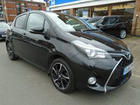 USED 2016 66 TOYOTA YARIS 1.3 VVT-I DESIGN 5d 99 BHP 1 OWNER, 30,000 MILES