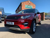 USED 2016 16 LAND ROVER DISCOVERY SPORT 2.0 TD4 SE TECH 5d AUTO 180 BHP Lovely Example 2 Owners FSH in Firenze Red