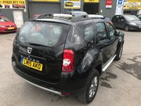 USED 2015 15 DACIA DUSTER 1.5 LAUREATE DCI 5d 107 BHP IN METALLIC BLACK WITH ONLY 67,500 MILES APPROVED CARS AND FINANCE ARE PLEASED TO OFFER THIS DACIA DUSTER  LAUREATE DCI 4X2 1.5 5 DOOR 107 BHP IN METALLIC BLACK WITH ONLY 67,500 MILES ON THE CLOCK WITH A FULL SERVICE HISTORY. THIS VEHICLE HAS A GREAT SPEC ALLOY WHEELS,TOUCH SCREEN DISPLAY,AIR CON AND MUCH MORE. VERY PRETTY VEHICLE ALSO A EURO 6 ENGINE SO EXTREMELY CHEAP ROAD TAX AND CAR INSURANCE.