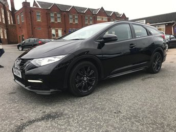 2015 HONDA CIVIC 1.6 I-DTEC BLACK EDITION TOURER 5d 118 BHP £9995.00