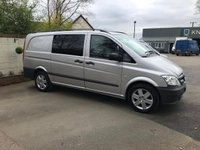 USED 2014 14 MERCEDES-BENZ VITO 2.1 113 CDI DUALINER AUTOMATIC Automatic, Sat Nav, Air Con, Leatherette, One Owner