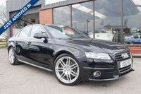 USED 2010 10 AUDI A4 1.8 TFSI S LINE SPECIAL EDITION 4d 120 BHP HISTORY, PART LEATHER, BLUETOOTH PHONE PREP, CRUISE CONTROL, EXCELLENT CONDITION