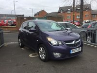 USED 2017 17 VAUXHALL VIVA 1.0 SL 5d 74 BHP £20 a year road tax, intellilink with DAB, bluetooth, low insurance and running costs, good spec with leather trim, privacy glass, alloy wheels, climate control and full service history