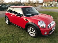 2013 MINI HATCH ONE 1.6 ONE PEPPERPACK 1.6 ONLY 24000 MILES IN RED  £6995.00