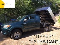 USED 2008 08 TOYOTA HI-LUX *TIPPER* 2.5 HL2 HILUX *EXTRA CAB*FSH*AIR CON*