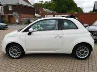 USED 2010 10 FIAT 500 1.2 C LOUNGE 3d 69 BHP FSH+CONVERTIBLE+REAR PARKING