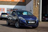 USED 2016 65 PEUGEOT 208 1.0 ACTIVE 3d 68 BHP Just 16000 miles on this 2016 Peugeot 208 1.0 Active 3dr in blue metallic. Low insurance group makes this an ideal first car, complete with service history and 2 keys.