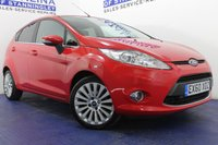 USED 2010 60 FORD FIESTA 1.6 TITANIUM 5d 118 BHP FULL SERVICE HISTORY - 8 STAMPS - FRONT AND REAR SENSORS - BLUETOOTH - AUX USB