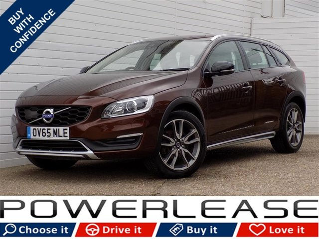 USED 2015 65 VOLVO V60 2.4 D4 CROSS COUNTRY LUX NAV AWD 5d AUTO 187 BHP HEATED LEATHER SEATS SAT NAV