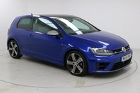 """USED 2015 15 VOLKSWAGEN GOLF 2.0 R DSG 3d 298 BHP PAN ROOF SAT NAV Finished in stunning Night Blue Metallic with Black Cloth Upholstery, 18"""" Alloy Wheels and Full Volkswagen Service History. Sat Nav, Bluetooth, Reverse Camera, Privacy Glass, Parking Sensors, Xenon Headlights, DAB Radio, Crusie Control, Climate Control and Multi Function Wheel"""