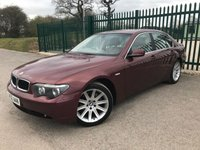 2002 BMW 7 SERIES 3.6 735I 4d AUTO 269 BHP ALLOYS LEATHER CRUISE CLIMATE FSH A/C MOT 12/19 £1990.00