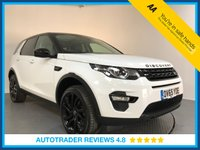 USED 2015 65 LAND ROVER DISCOVERY SPORT 2.0 TD4 HSE BLACK 5d AUTO 180 BHP EURO 6 - 1 OWNER - SERVICE HISTORY - 7 SEATS - SAT NAV - LEATHER - PAN ROOF - REAR CAMERA - DAB