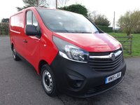 USED 2015 15 VAUXHALL VIVARO 2700 L1 SWB 1.6 CDTI 115 BHP Direct From Leasing Company With 54000 Miles And Full service History, Stunning Looking In Flame Red! Very Clean Example!