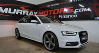 USED 2015 AUDI A4 2.0 TDI S LINE 177ps *Black Edition Styling* GLACIER WHITE