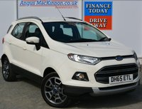 USED 2016 65 FORD ECOSPORT 1.0 TITANIUM 5d Petrol Family SUV Stunning in White with Great High Spec and Low Running Costs **LOW MILEAGE FOR AGE**