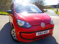 USED 2013 13 VOLKSWAGEN UP 1.0 TAKE UP 3d 59 BHP ** £20 ROAD TAX , GROUP 1 INSURANCE , ONE PREVIOUS OWNER , FANTASTIC FIRST CAR **