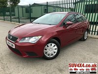 USED 2014 14 SEAT LEON 1.6 TDI S 5d 105 BHP FSH STUNNING RED WITH FULL BLACK CLOTH TRIM. COLOUR CODED TRIMS. BLUETOOTH PREP. AIR CON. TRIP COMPUTER. R/CD PLAYER. MEDIA CONNECTIVITY. 5 SPEED MANUAL. MFSW. MOT 04/20. ONE PREV OWNER. FULL SERVICE HISTORY. P/X CLEARANCE CENTRE LS23 7FQ TEL 01937 849492 OPTION 4