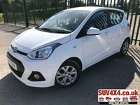 USED 2014 14 HYUNDAI I10 1.0 SE 5d 65 BHP CRUISE AIR CON ONE OWNER FSH STUNNING WHITE WITH BLACK CLOTH TRIM. CRUISE CONTROL. COLOUR CODED TRIMS. BLUETOOTH PREP. AIR CON. R/CD PLAYER. MFSW. MOT 04/20. ONE OWNER FROM NEW. FULL SERVICE HISTORY. P/X CLEARANCE CENTRE LS23 7FQ TEL 01937 849492 OPTION 4
