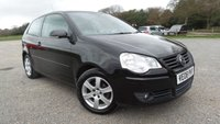 USED 2008 08 VOLKSWAGEN POLO 1.4 MATCH 3d 79 BHP CLIMATE CONTROL, ALLOY WHEELS, CD-PLAYER, CENTRAL LOCKING, ELECTRIC WINDOWS, ELECTRIC MIRRORS, IDEAL 1ST CAR, BLACK,