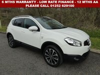 USED 2012 62 NISSAN QASHQAI 1.6 N-TEC PLUS 5d 117 BHP All retail cars sold are fully prepared and include - Oil & filter service, 6 months warranty, minimum 6 months Mot, 12 months AA breakdown cover, HPI vehicle check assuring you that your new vehicle will have no registered accident claims reported, or any outstanding finance, Government VOSA Mot mileage check. Because we are an AA approved dealer, all our vehicles come with free AA breakdown cover and a free AA history check.. Low rate finance available. Up to 3 years warranty available.