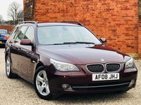 USED 2008 08 BMW 5 SERIES 523i SE 2.5 PETROL TOURING AUTO 1 OWNER HUGE SPECIFICATION