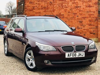 2008 BMW 5 SERIES 523i SE 2.5 PETROL TOURING AUTO 1 OWNER HUGE SPECIFICATION £6495.00