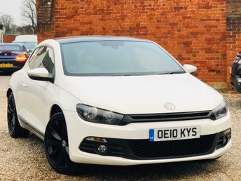 2010 VOLKSWAGEN SCIROCCO 2.0 GT MANUAL 210BHP NAVIGATION SUNROOF LEATHER DYNAUDIO £9295.00