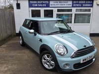 2013 MINI HATCH ONE 1.6 ONE D 3d 90 BHP £6995.00
