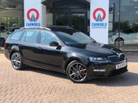 USED 2015 15 SKODA OCTAVIA 2.0 VRS NAV TDI CR DSG 5d AUTO 181 BHP 1 Owner/Sat Nav/Part Leather
